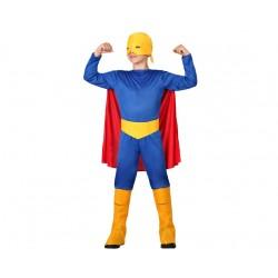 Costume super eroe bambino muscoloso taglia 5/6 anni Atosa