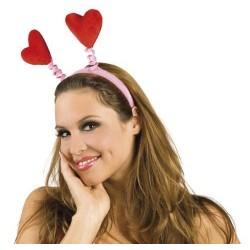 Cerchietto love amore con cuori rossi feste a tema San Valentino