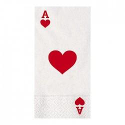 Tovagllioli in carta Poker 16 pezzi