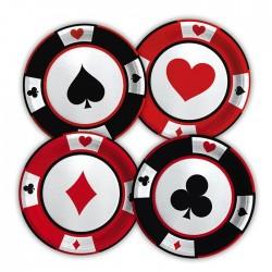 Piatti stampati carte gioco poker