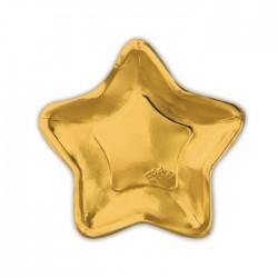 Piatto stella oro cm 24 in carta 10 pezzi