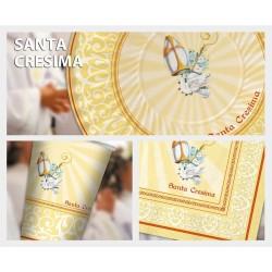 PIATTI CRESIMA IN CARTA CONFEZIONE 10 PEZZI  CM 24