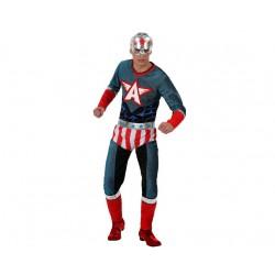 Costume super eroe America uomo taglia ML colore rosso e blu