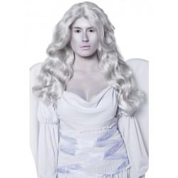 Parrucca grigia lunga angelo della morte capelli mossi