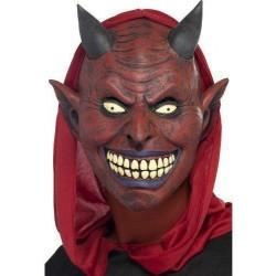 Maschera diavolo rossa da uomo Halloween
