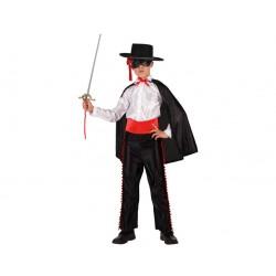Costume Zorro da bambino 3/4 anni Atosa