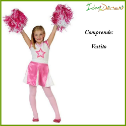 Costume cheerleader bambina ragazza pom pom