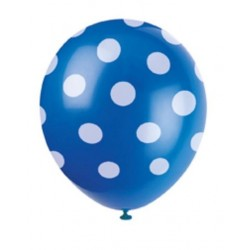 Palloncini pois blu compleanno batttesimo festa