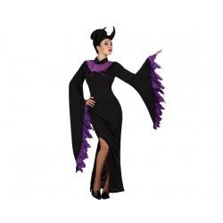 Costume Strega Mortisia donna regina delle tenebre Halloween Taglia XS/S