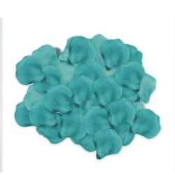 Petali rose acquamarina sintetici per matrimonio 144pz