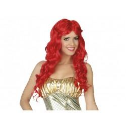 Parrucca rossa lunga mossa
