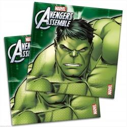Tovaglioli Avengers in carta compleanno bimbi