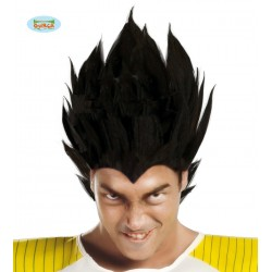Parrucca nera Vegeta Dragon ball samurai