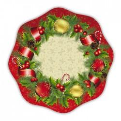 PIATTI CHRISTMAS STYLE CM 18 IN CARTA 10 PEZZI NATALE CAPODANNO.