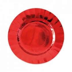 Piatti in carta rosso lucido diam cm 20