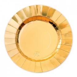 Piatti oro coordinato tavola diam 25 cm addobbo
