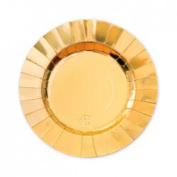 Piatti oro coordinato tavola diam20 cm