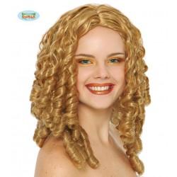 Parrucca bionda con boccoli da donna