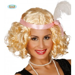 Parrucca bionda donna charleston