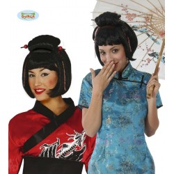 Parrucca giapponese geisha donna