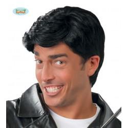 Parrucca uomo nera capelli corti