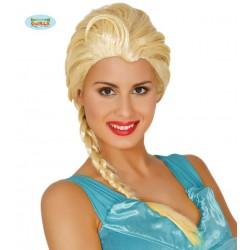 Parrucca Frozen principessa dei ghiacci bionda