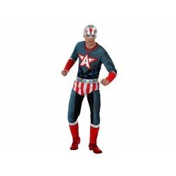 Costume super eroe America uomo taglia XL colroe rosso e blu