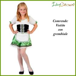 Costume tirolese tedesca bambina vestito verde Okoberfest