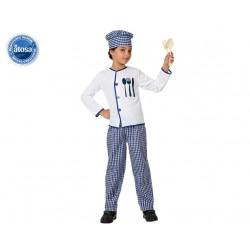Costume cuoco bambino taglia 10/12 anni