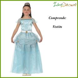 Costume Principessa dei ghiacci bambina azzurro vestito