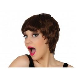 Parrucca castana corta da donna