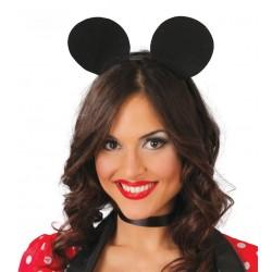 Cerchietto orecchie da topolino topo nere
