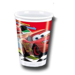 Bicchiere Cars in plastica 10 pezzi