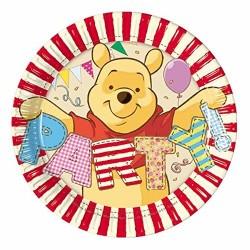 Piatti Winnie the pooh in carta cm 19