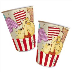 Bicchieri Winnie the Pooh in plastica compleanno 8 pz