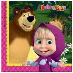 Masha e orso tovaglioli 20 pz compleanno bimbi