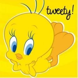 Tovaglioli titti tweety canarino cm 33x33