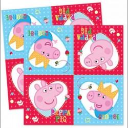 Tovaglioli Peppa Pig in carta cm 33x33  pz 16
