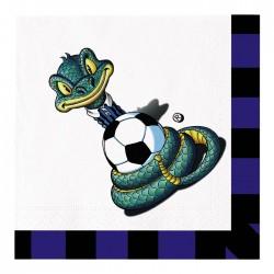 Tovaglioli tifoso Inter nero azzurro Sibillo10 pezzi