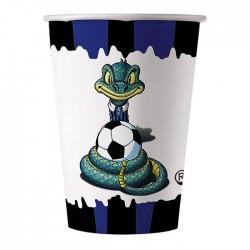 Bicchieri Inter compleanno tiffoso nero azzurro