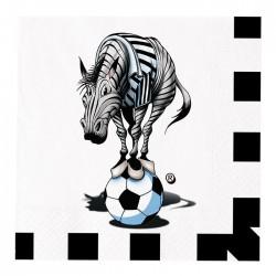 Tovaglioli in carta Juventus tifoso zebrotta bianconero coordinati festa a tema calcio
