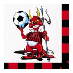 Tovagliolo tifoso Milan rosso nero