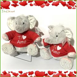San Valentino peluche regalo elefante con cuore Ti amo