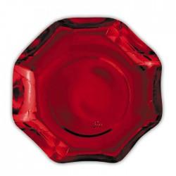 Piatto rosso Rouge Metallic diam27 cm