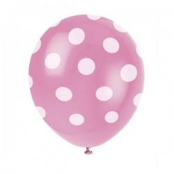 Palloncini a pois rosa nascia 25 pezzi