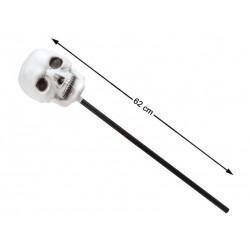 Bastone con teschio horror accessorio halloween