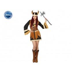 Costume Vichinga donna taglia XL Atosa carnevale
