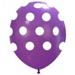Palloncini pois viola per festa compleanno