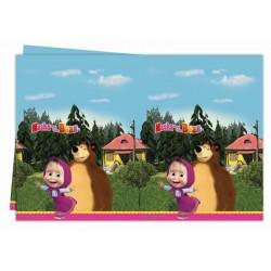 Tovaglia Masha e orso in plastica cm 120x180