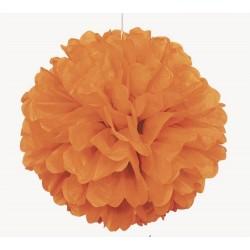 Decorazione Puff ball arancione